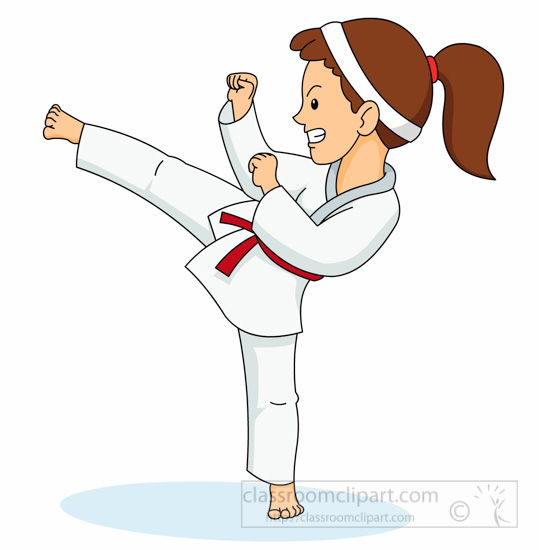 1792 Karate free clipart.