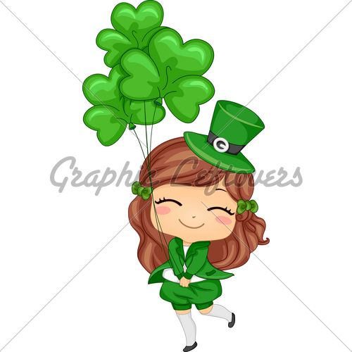 Cartoon Girl Leprechaun.