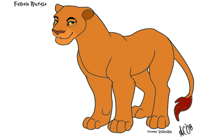 Female lion clipart.