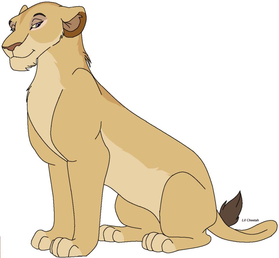 Female Lioness Clipart.