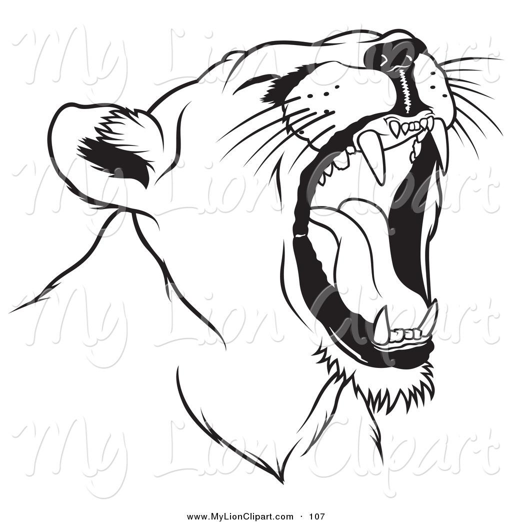 Free Female Lion Clipart.