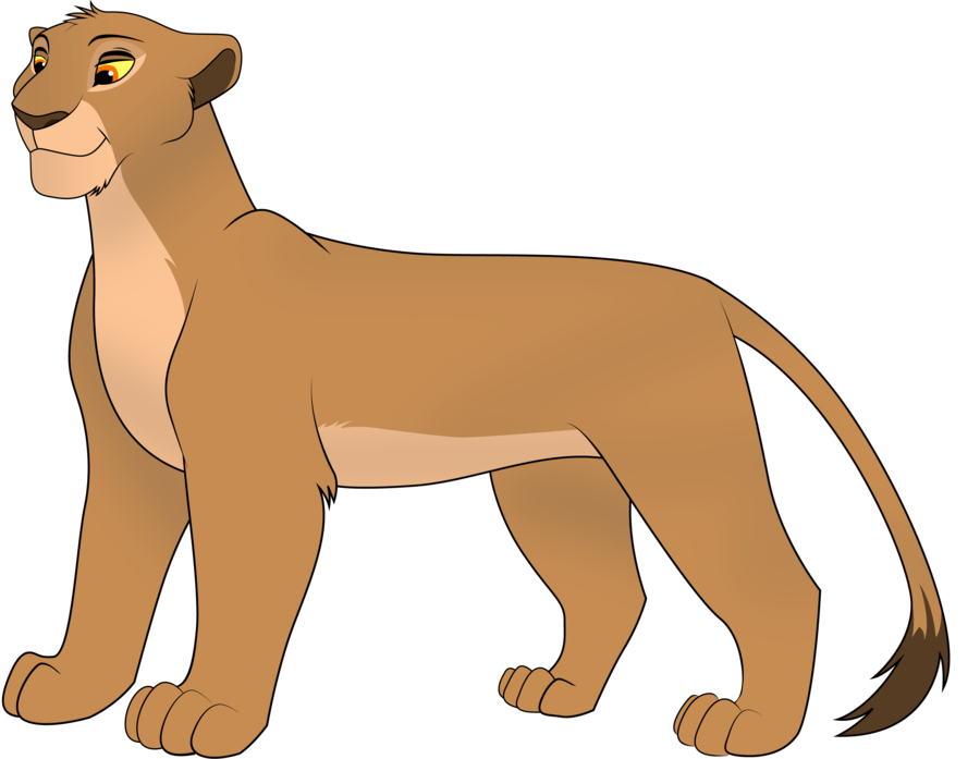 How To Draw A Female Lion.