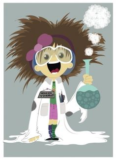 Female Mad Scientist Clipart.