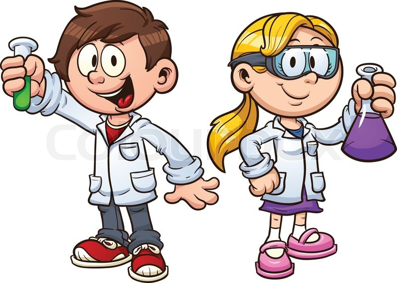 Girl Scientist Clipart.