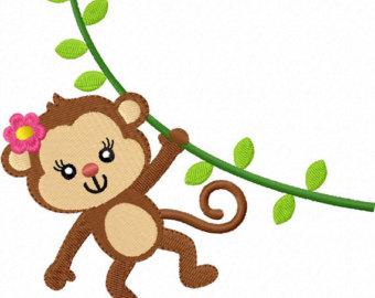 Girl Monkey Clip Art.