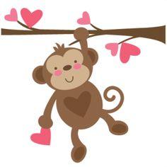 Monkey cliparts.