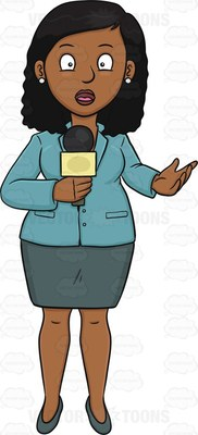 female news reporter clipart clipground