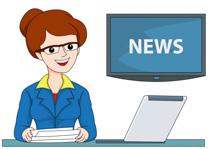 Clipart News Reporter.