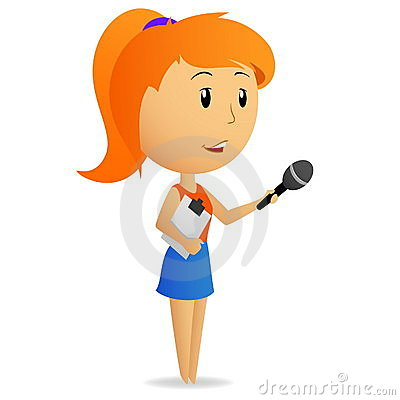Showing post & media for Female news reporter cartoon.