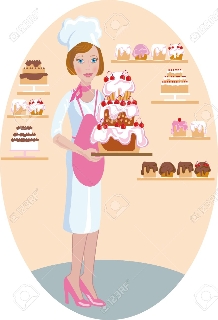 Female pastry chef clipart 9 » Clipart Station.