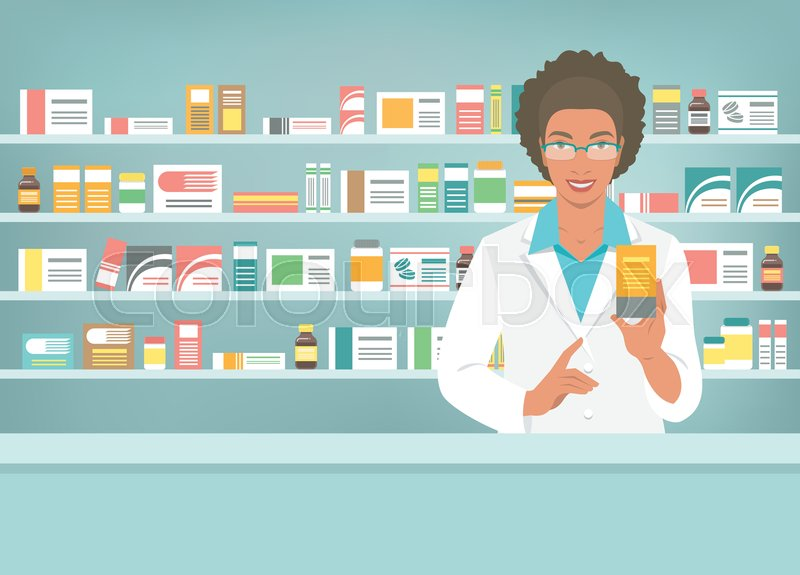 Collection of free Dispensary clipart female pharmacist.