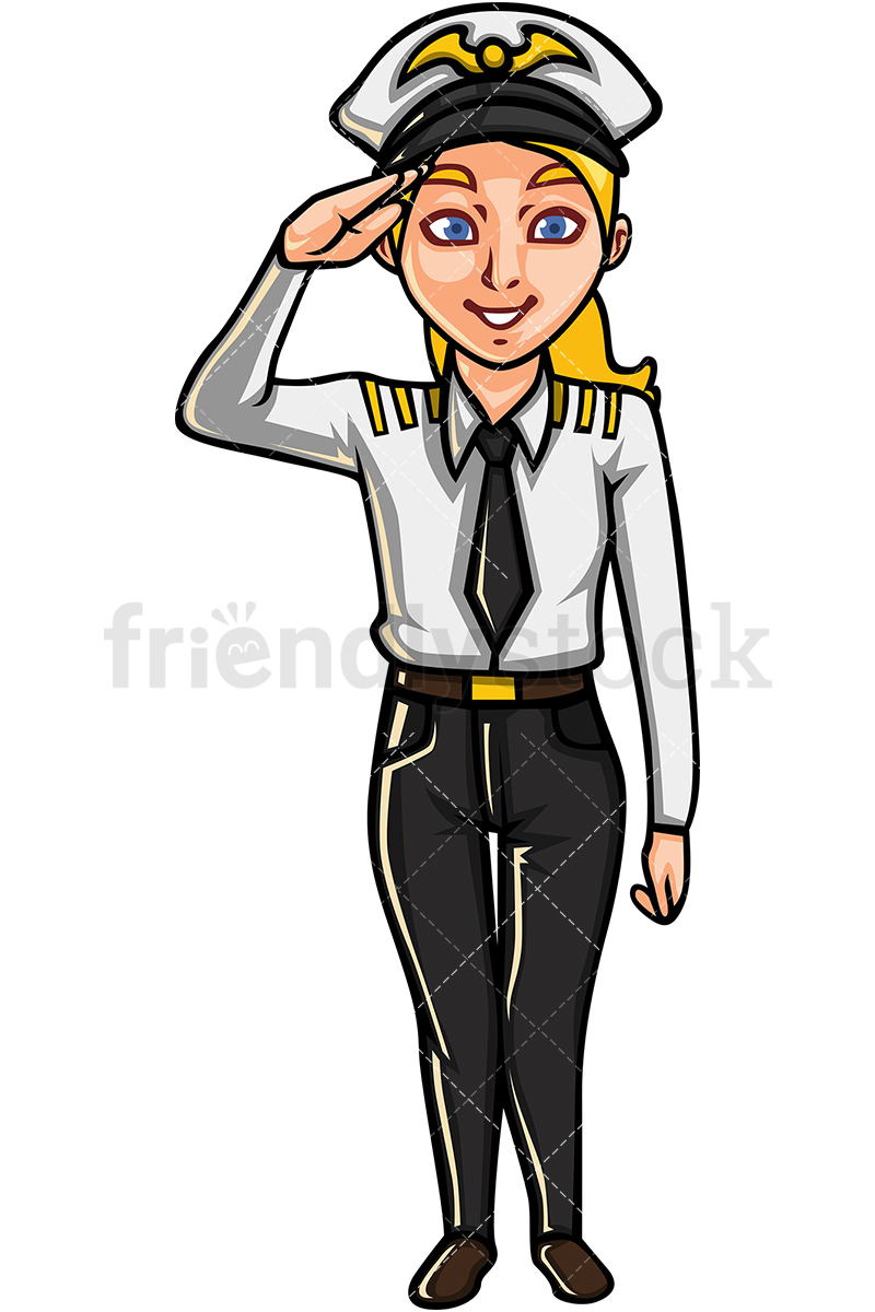 Female Commercial Airline Pilot.