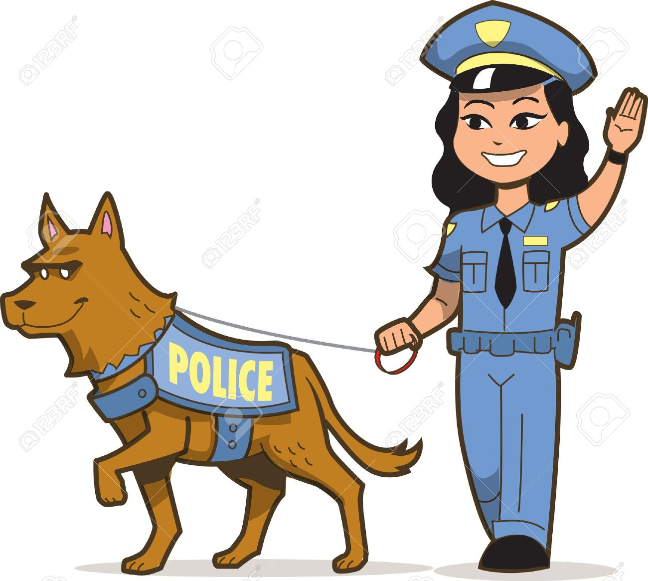 2345 Police Officer free clipart.