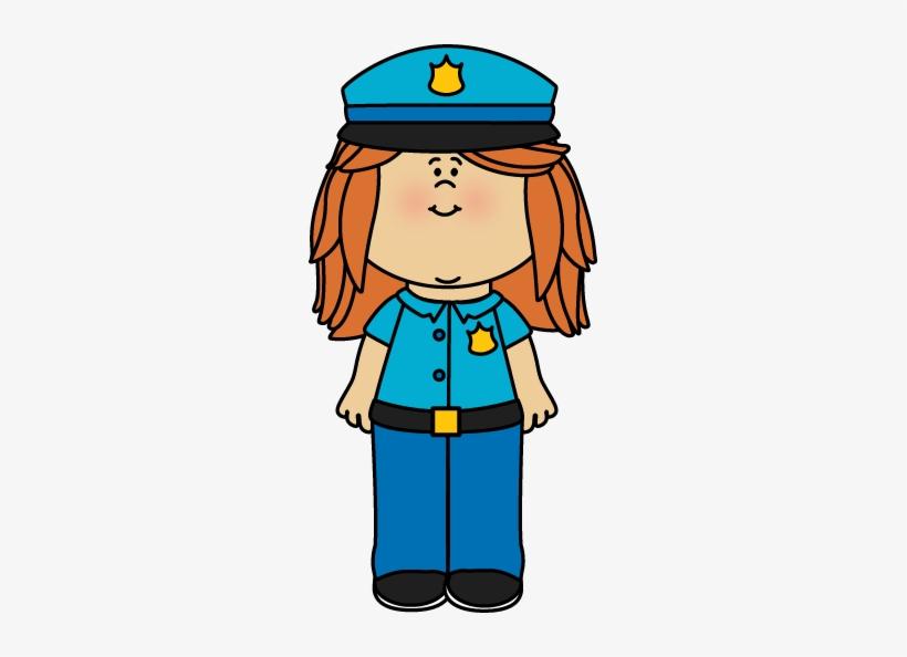 Girl Police Officer Clip Art.