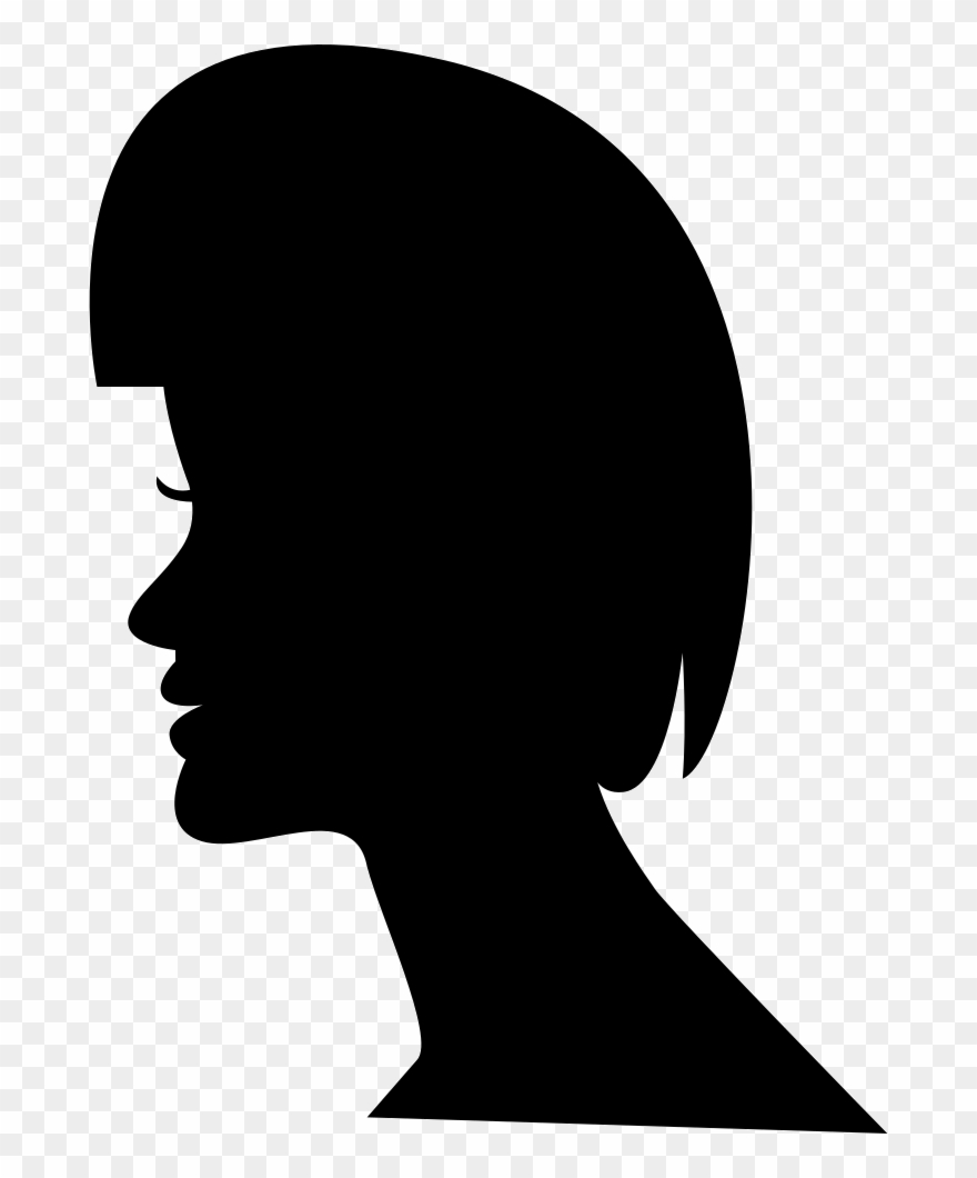 Female Short Hair On Head Silhouette Comments.
