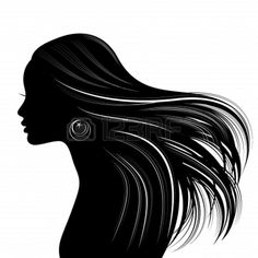 7 Best Woman face silhouette images.