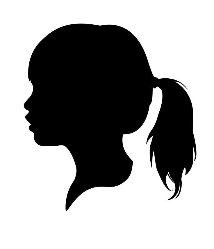 Free Female Profile Silhouette, Download Free Clip Art, Free.