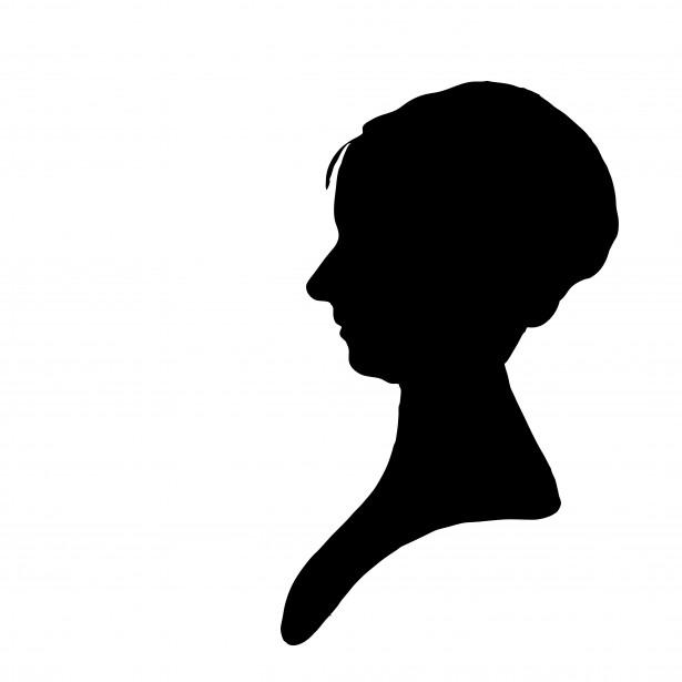 Woman Profile Silhouette Clipart Free Stock Photo.