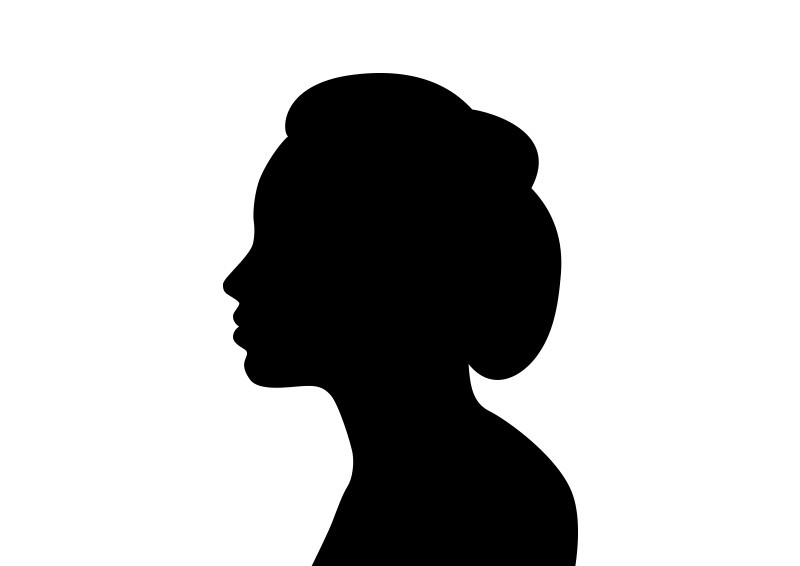 Side Profile Silhouette Female.