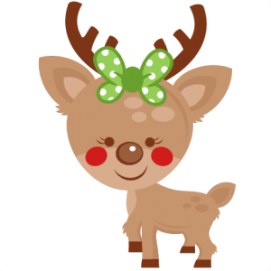 Girl Reindeer SVG.