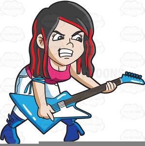Clipart Rock Star Guitar.