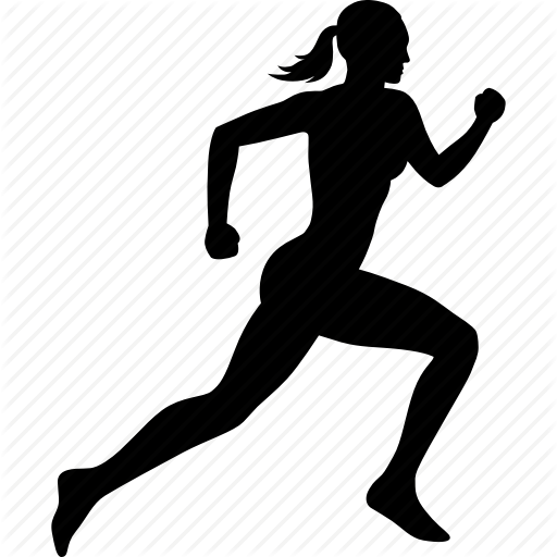 Female Running Silhouette.