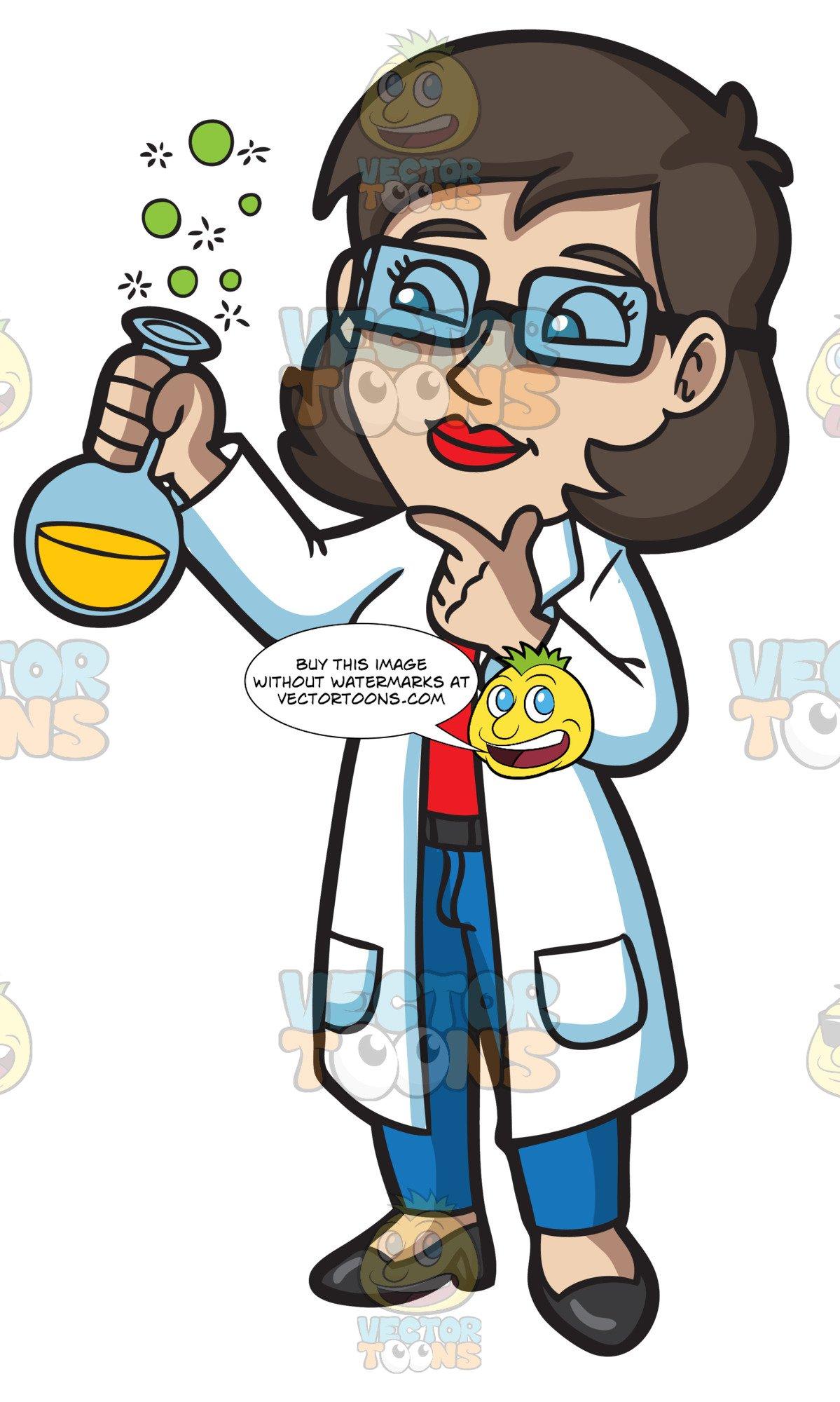A Female Scientist.