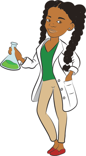 Young female scientist.