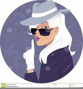 Female Secret Agent Clipart.