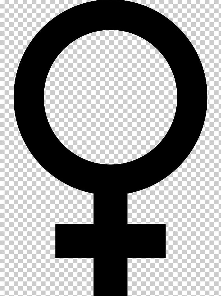 Gender Symbol Female Sign PNG, Clipart, Black And White, Cdr, Circle.