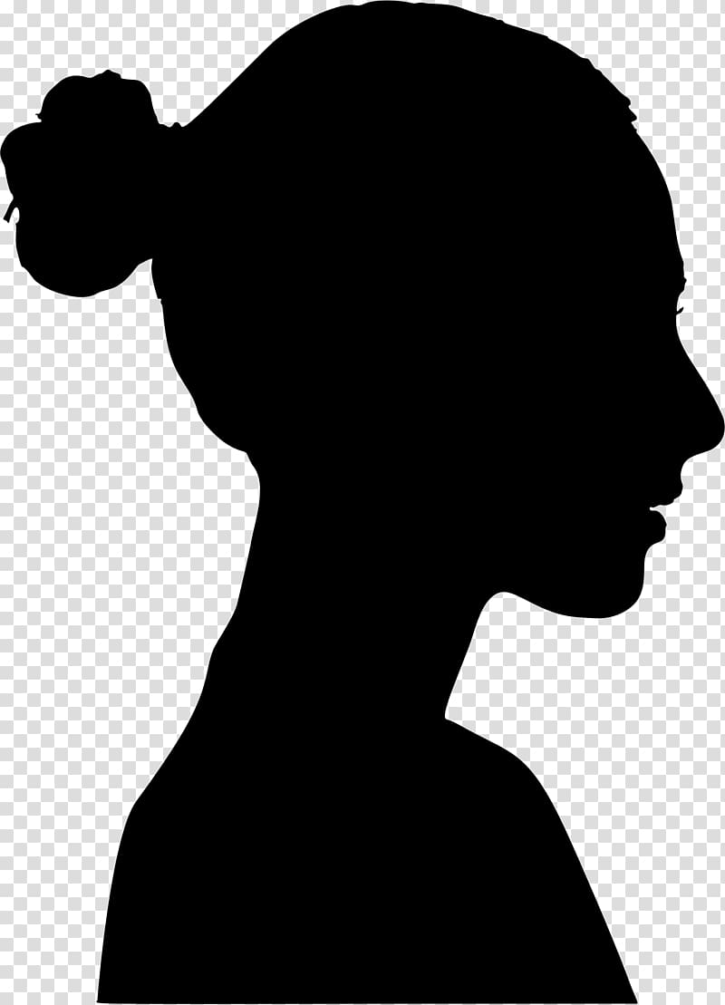 Silhouette Female Woman, female silhouette transparent.