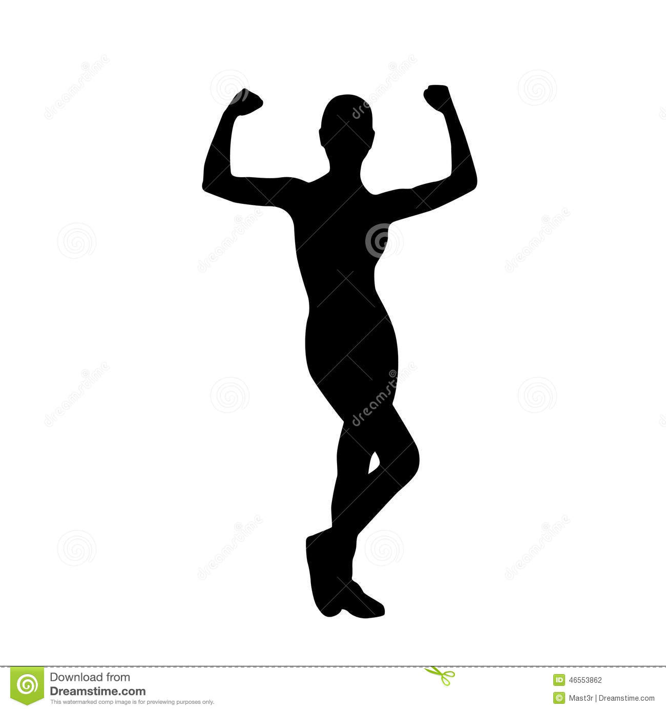 32 Exercise Silhouettes Stock Image.