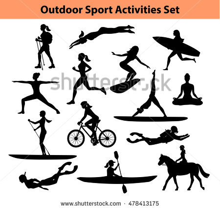 Sports Silhouette Stock Images, Royalty.