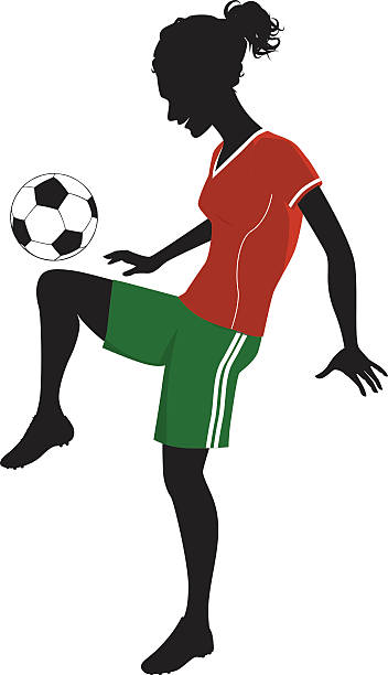 Women Soccer Clip Art, Vector Images & Illustrations.