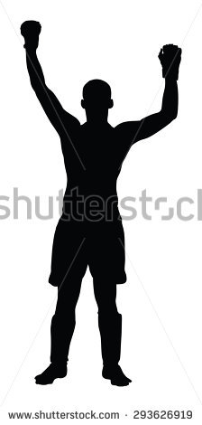 Boxer Silhouette Stock Images, Royalty.
