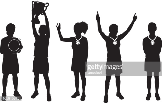 Female Sports Winners Vector Art.