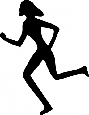 Female Silhouette Clipart Sports Winner.