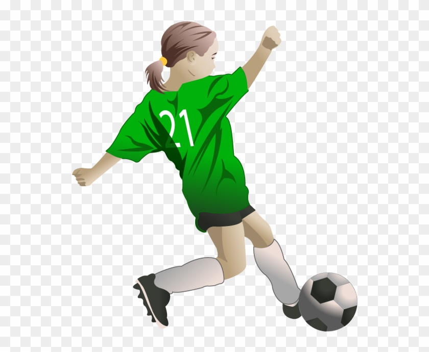 28 Collection Of Female Soccer Players Clipart.