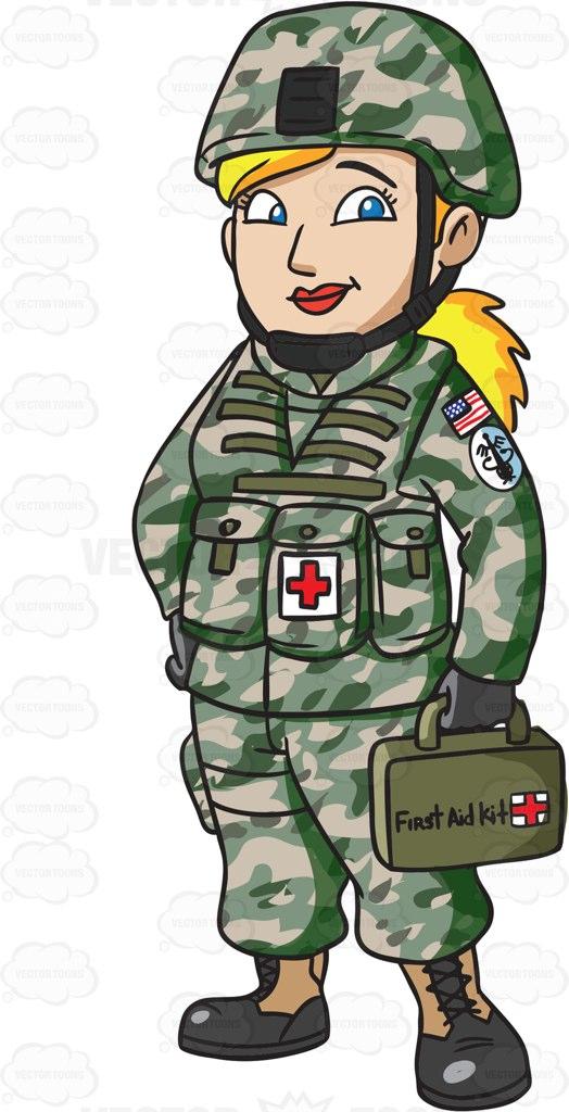A Female Army Medic.