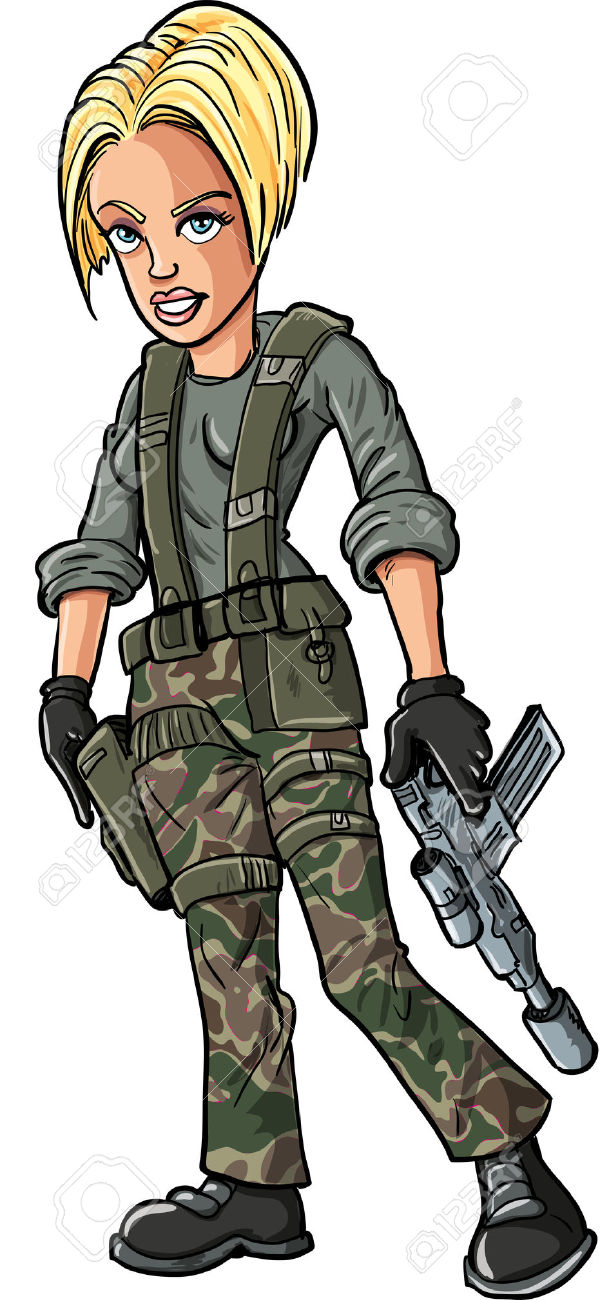 654 Female Soldier Stock Vector Illustration And Royalty Free.