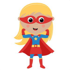 Girl Superhero cut files SVG cutting files for scrapbooking.