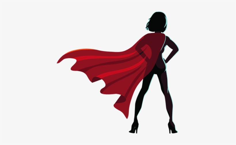 Female Superhero Silhouette Png.