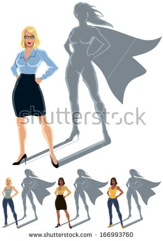 Female Hero Stock Images, Royalty.
