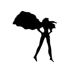 Female Superhero Silhouettes Royalty Free Vector Image.