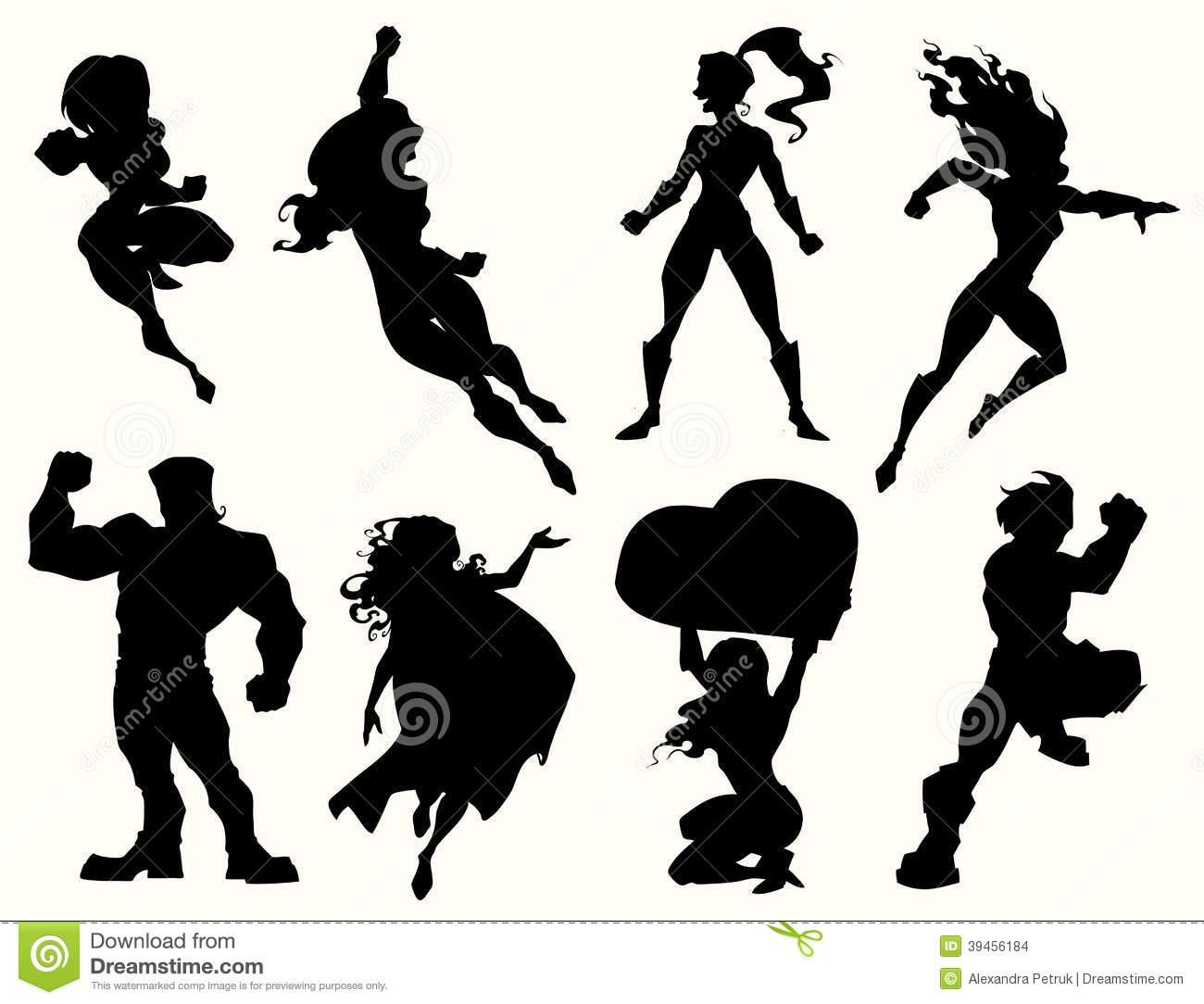 Superhero Silhouette Clipart#1961673.