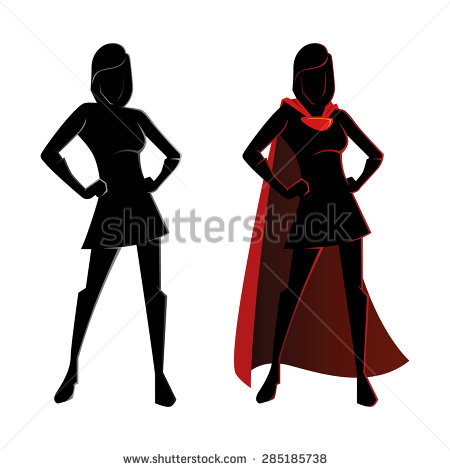 Superhero Silhouette Stock Images, Royalty.