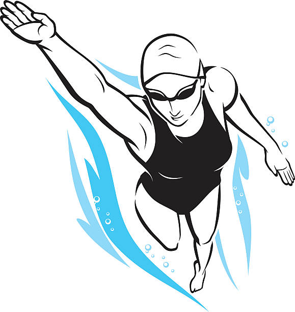 Best Freestyle Swimming Illustrations, Royalty.