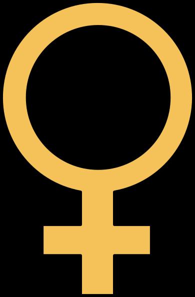 Gold Female Symbol Clip Art at Clker.com.