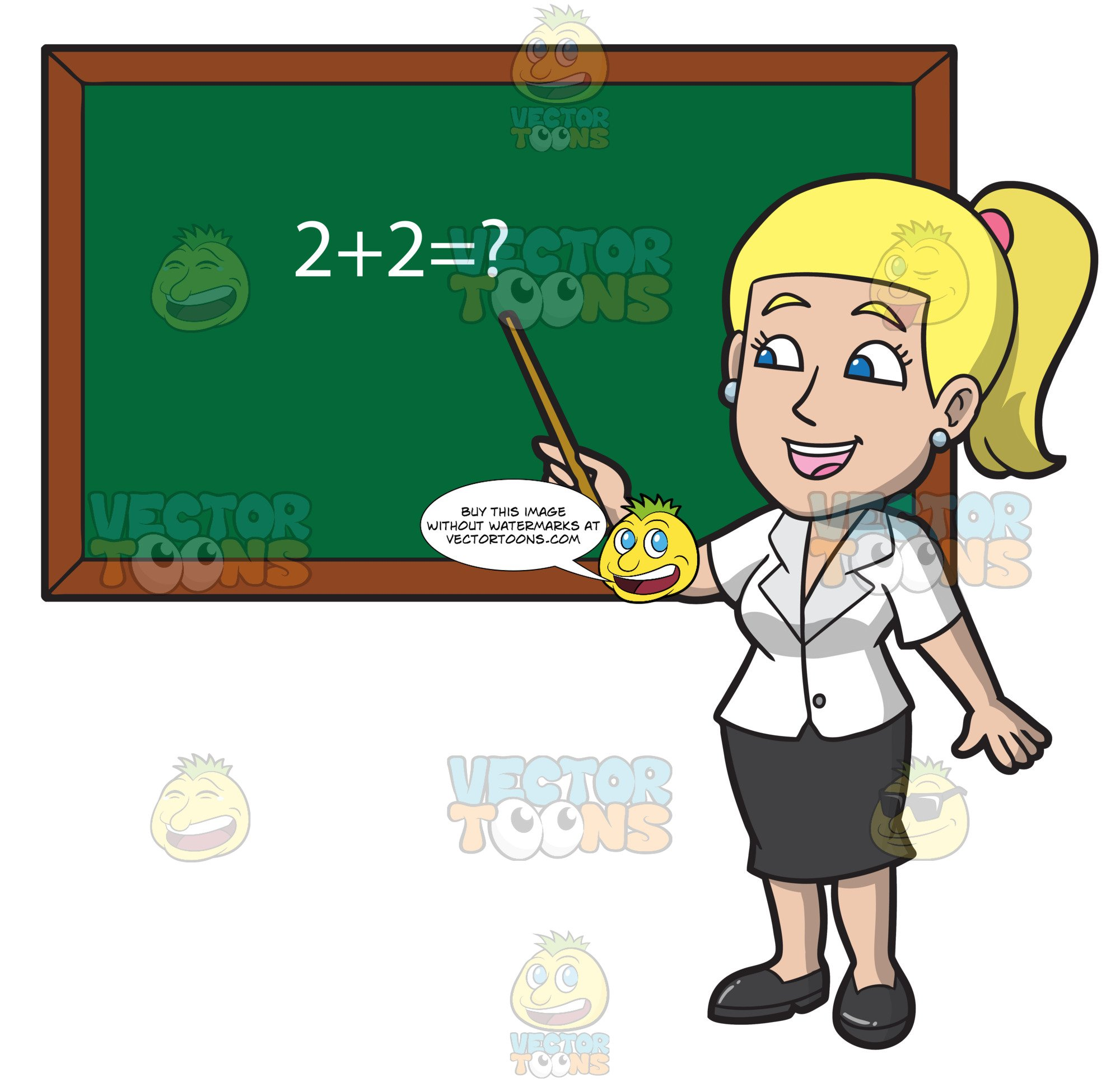 A Charming Female Math Teacher.