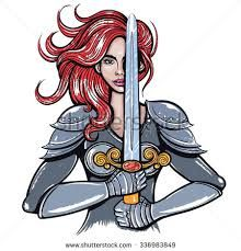 Image result for female warrior vector.